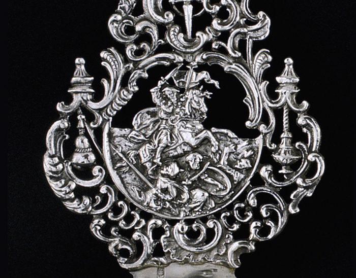 Pililla Ref.458 Santiago a caballo. 12x8cm
