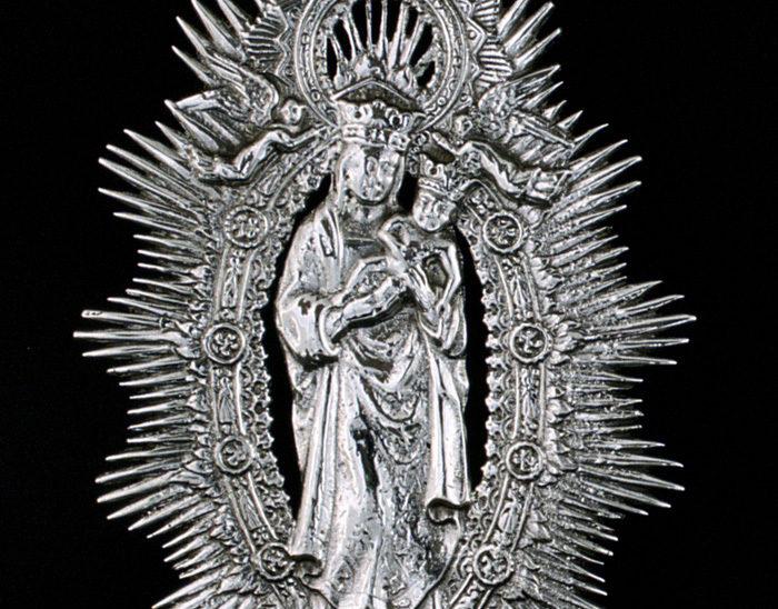 Medalla Ref.494 Virgen de la Almudena 9x7cm
