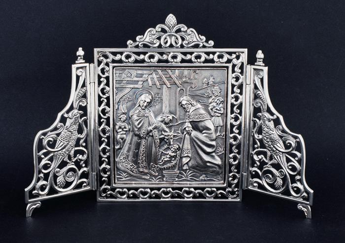 Tríptico Ref.653 Adoración del niño 21x14cm