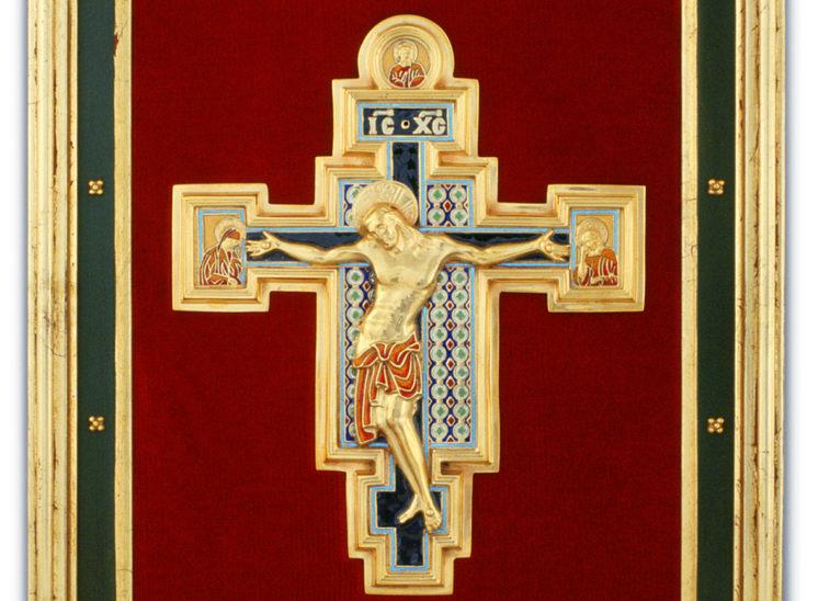 Luis Vallés - esmalte - Cruz Ref. 105 Estilo romanico. Esmalte Celular. 32x36cm