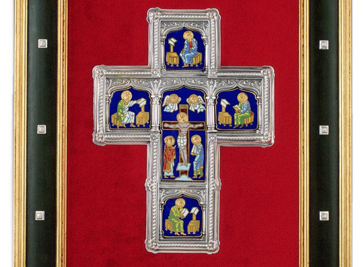 Luis Vallés - esmalte - Cruz Ref.138 Estilo gotico. Esmalte celular. 36x42cm